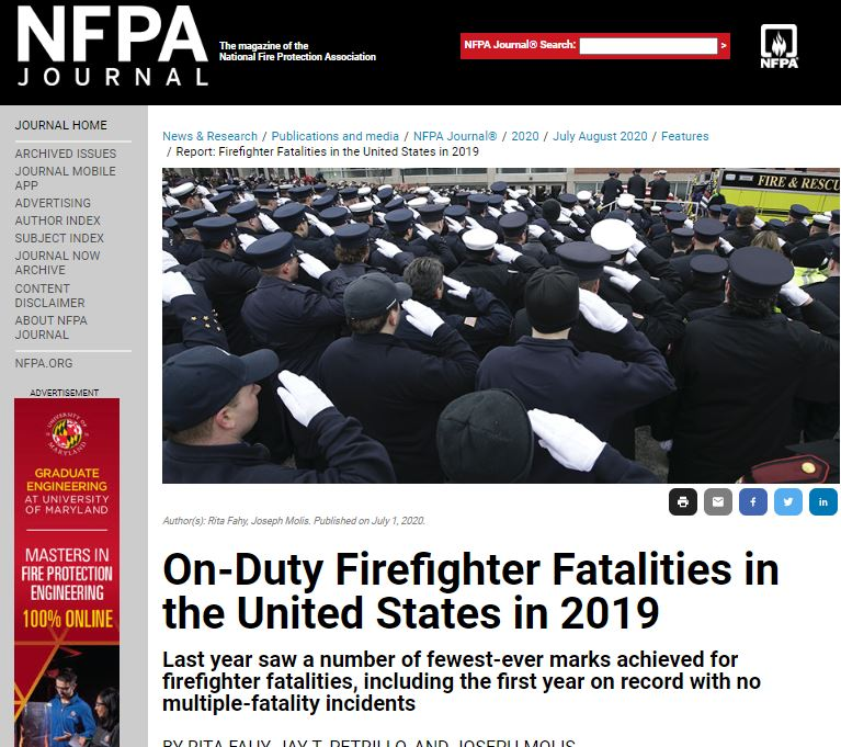 FirefighterFatalitiesreportNFPAJournalarticlescreenshotpulled30July2020