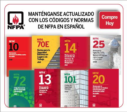Códigos y normas de NFPA en español